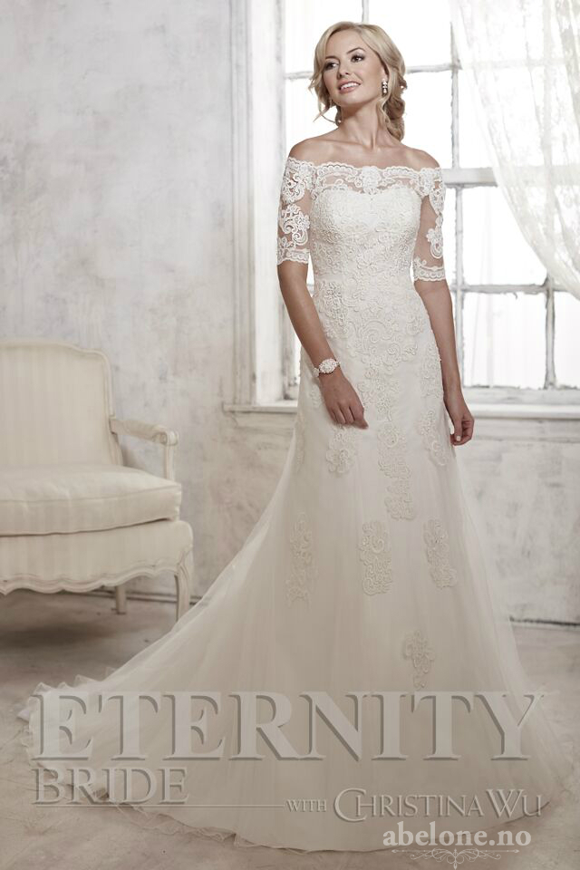 Blonde brudekjole med arm D5306 Eternity Bride 2016 - ABELONE.NO