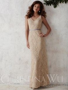 v-neck-lace-floor-length-christina-wu-occasions-bridesmaid-dress-22665-5